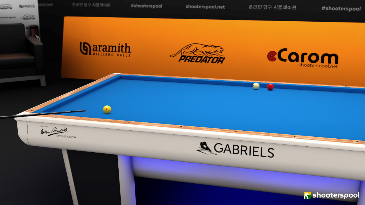 ShootersPool 3 Cushion Billiards Gabriels Rafale