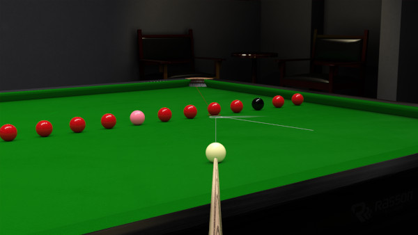 Snooker Training Line Up Drill